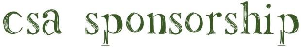 CSA Sponsorship